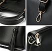 Женская сумка классическая в наборе сумка через плечо с кисточкой Tiffany Черный, фото 3