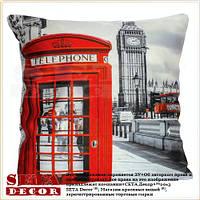 Наволочка на подушку Лондон (Union Jack) 43х43 см, декоративная
