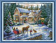 Новый год Набор для вышивки крестом с печатью на ткани 14ст