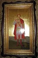 Икона писаная Святого Дмитрия Солунского в киоте 60 см, фото 1