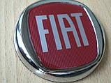 Эмблема z Fiat красная диаметром 73,7мм №4 Фиат в полоску наклейка на авто , фото 2