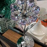 """Статуэтка с кристаллами с стразами Swarovski """"Цветок""""(нежно-сиреневые кристаллы). Шикарная!"""