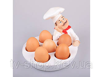 """Блюдо для яєць """"Шеф-Кухар"""", 24х18х14.5 см"""