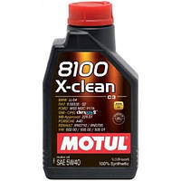 Моторное масло Motul 8100 X-clean 5W-40 1 л (854111 / 102786)