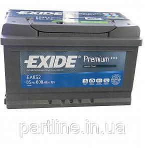Аккумулятор  EXIDE Premium 6СТ-85 Евро ( ЕА852 ), 800En, габариты 315х175х175, гарантия 24 мес.