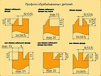 Фрезы твердосплавные для изготовления мебельных фасадов с остеклением 5.01 ВК (полка)