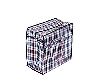 Сумка хозяйственная полипропиленовая «клетка» №1 со змейкой-молнией (размер 40х34х19)