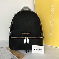 Кожаный рюкзак, портфель Майкл Корс в черном цвете, Люкс копия