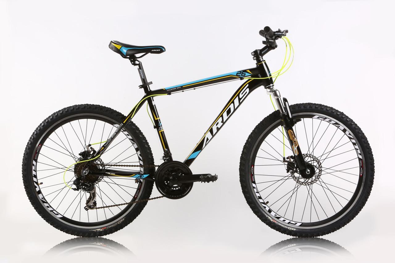 """Горный велосипед ARDIS CROSS 3000 МТВ 26""""  21"""" Черный/Голубой"""
