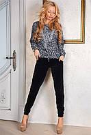 Велюровий костюм Karina с красивими камнями и удобними кармашками (2 цвета) (134)808