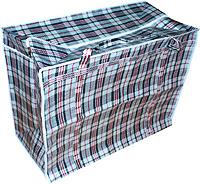 Сумка хозяйственная полипропиленовая «клетка» №5 со змейкой-молнией (размер 64х50х31)