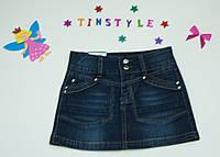 Джинсовая юбка для девочки рост 128-140 см, фото 1