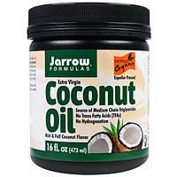 Органическое кокосовое масло Extra Virgin (нераф.) 473 г Филлипины для Jarrow Formulas