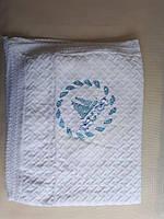 Пледик теплый вязаный на меху с вышивкой, есть разновидность вышивки, фото 1