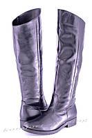 Женские кожаные сапоги , черные V 830