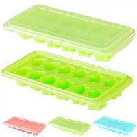 Форма для льда с крышкой J00131 пластик 26*11см, Форма для льда, пластиковая форма для льда