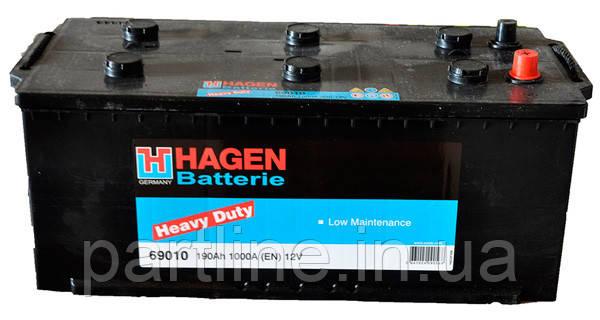 Аккумулятор  EXIDE Hagen 6СТ-10 ( 69010 ), 1000En, габариты 513х223х223, гарантия 24 мес.
