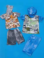Детский комплект Милитари футболка и шорты на мальчика размера 26, 28, 30, 32