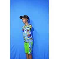 Детский комплектТачки футболка и шорты на мальчика размера 26, 28, 30, 32, 34