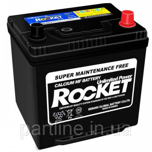 Аккумулятор Rocket 6СТ-50 Азия Евро, (SMF 50D20L), 450En, габариты 202х175х225, гарантия 18 мес.