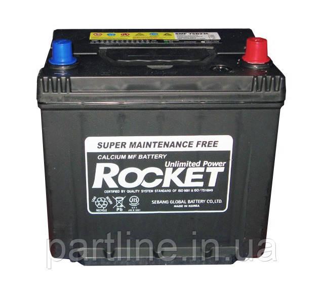 Аккумулятор Rocket 6СТ-60 Азия Евро, (SMF 55D23L), 500En, габариты 232х173х225, гарантия 18 мес.