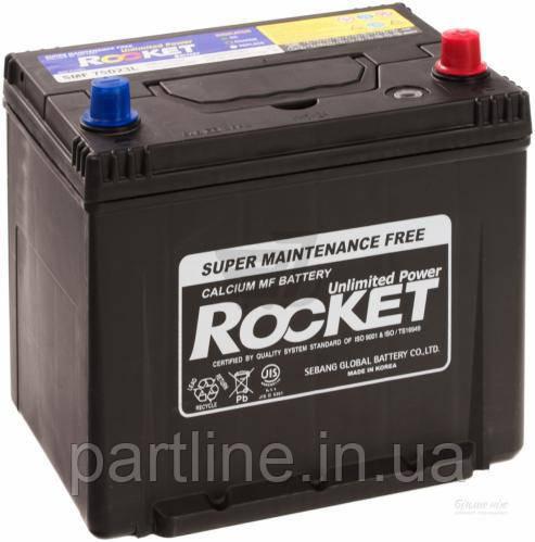 Аккумулятор Rocket 6СТ-65 Азия, (SMF 75D23R), 580En, габариты 232х173х225, гарантия 18 мес.