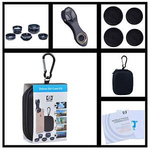 Профессиональный набор объективов для телефона 5в1 Apexel deluxe
