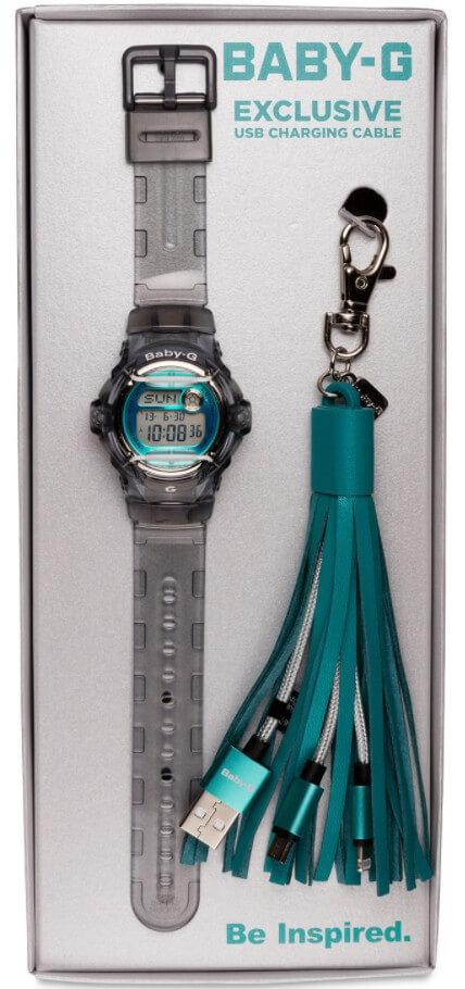 Подарунковий набір Casio Baby-G BG169R-8BTAS+USB-зарядний кабель