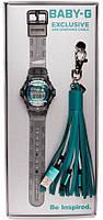 Подарунковий набір Casio Baby-G BG169R-8BTAS+USB-зарядний кабель, фото 1