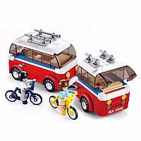 Конструктор Лего №Sluban M38 B 0566 Город /микроавтобус с прицепом/324дет