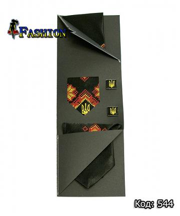 Вышитый набор с запонками Хмельницкий, фото 2