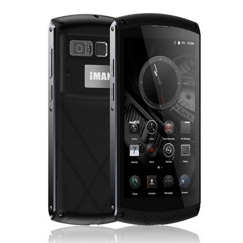 "Смартфон IMAN Victor Black, 4/64Gb, 13/5Мп, 8 ядер, 2sim, экран 5"" IPS, 4800mAh, IP67, GPS, 4G, Android 6.0"