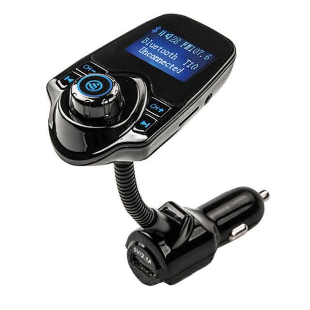 FM трансмиттер модулятор авто MP3 Bluetooth T10