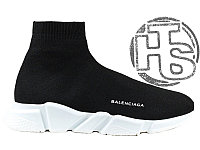 Мужские кроссовки Balenciaga Knit High-Top Sneakers Black/White 504880899