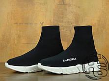 Жіночі кросівки Balenciaga Knit High-Top Sneakers Black/White 504880899, фото 2