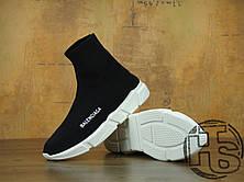 Жіночі кросівки Balenciaga Knit High-Top Sneakers Black/White 504880899, фото 3