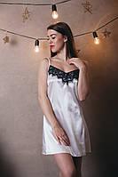Женская атласная ночная рубашка Код м28