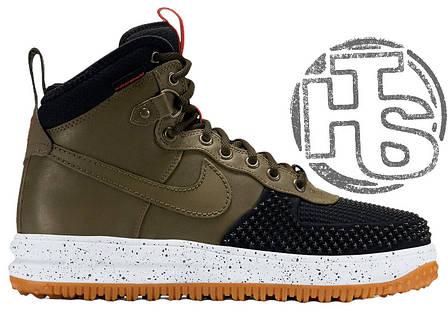 Мужские кроссовки реплика Nike Lunar Force 1 Duckboot Green/Black 805899-008, фото 2