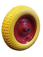 Колесо для садовой тачки 3,50-8 ось 16 мм из пенополиуретана 20035016