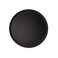 Поднос для официанта черный с низким бортом 280 мм CO RECT