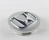 Колпачки заглушки для литых дисков Honda 44732-SDE-T00. Колпак  Хонда серый + хром
