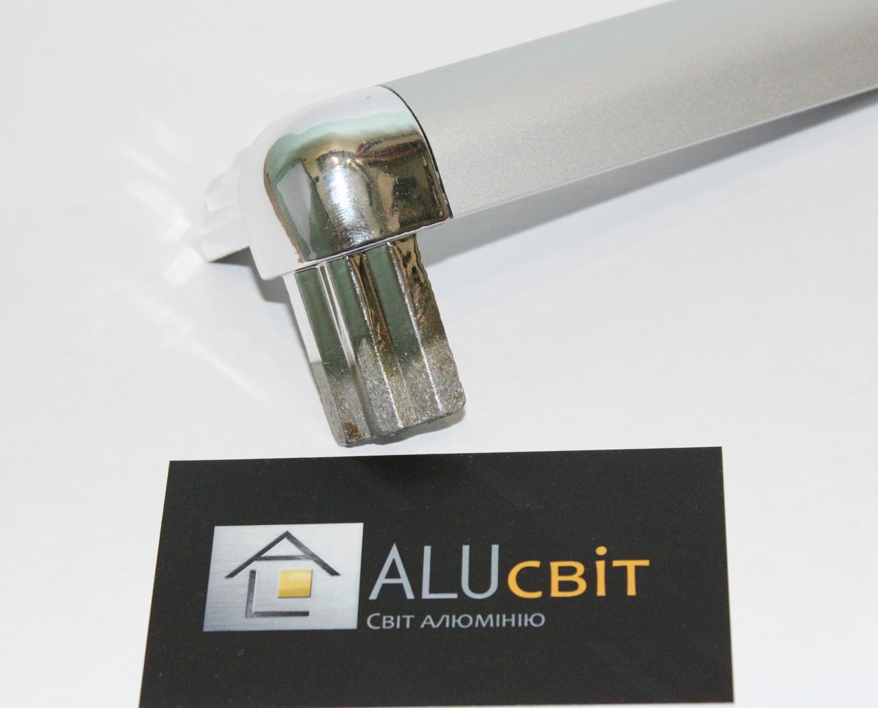 Стык тройной напыление хром для торгового алюминиевого профиля