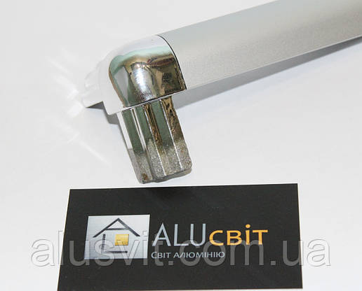 Стык тройной напыление хром для торгового алюминиевого профиля, фото 2