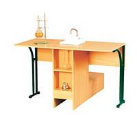 Стол лабораторный ученический для кабинета химии с мойкой 1225х1200х760 мм