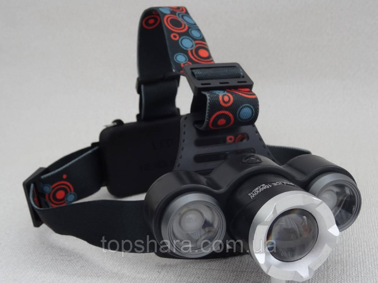 Фонарик головной Police BL-C863-T6 158000W черный