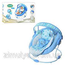 Шезлонг-качалка детский с вибрацией и музыкой 60682