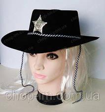 Шляпа Шерифа (черная пластик), фото 2