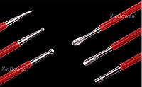Набор инструментов из нержавеющей стали, двухсторонние, 3шт. Для чеканки, тиснения по коже, моделирования .
