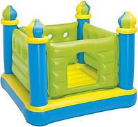 Детский надувной батут Зеленый замок 48257 Intex 132 х 132 х 107 см