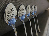 Именная чайная ложка в подарок от производителя гравировка ложек с надписями